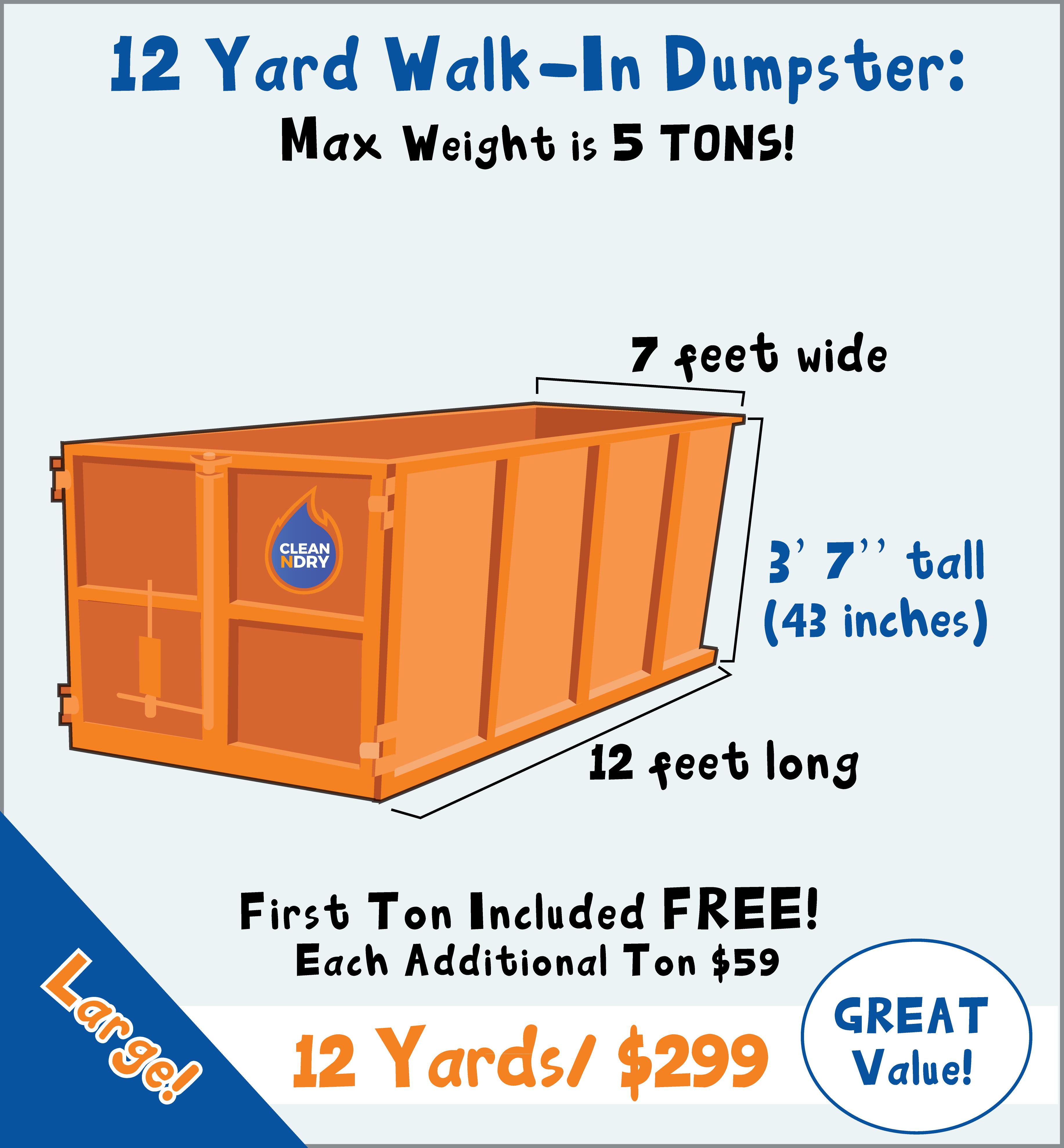 Rent a dumpster delivery orlando trash bin rental walk in dumpster rental orlando 12 yard
