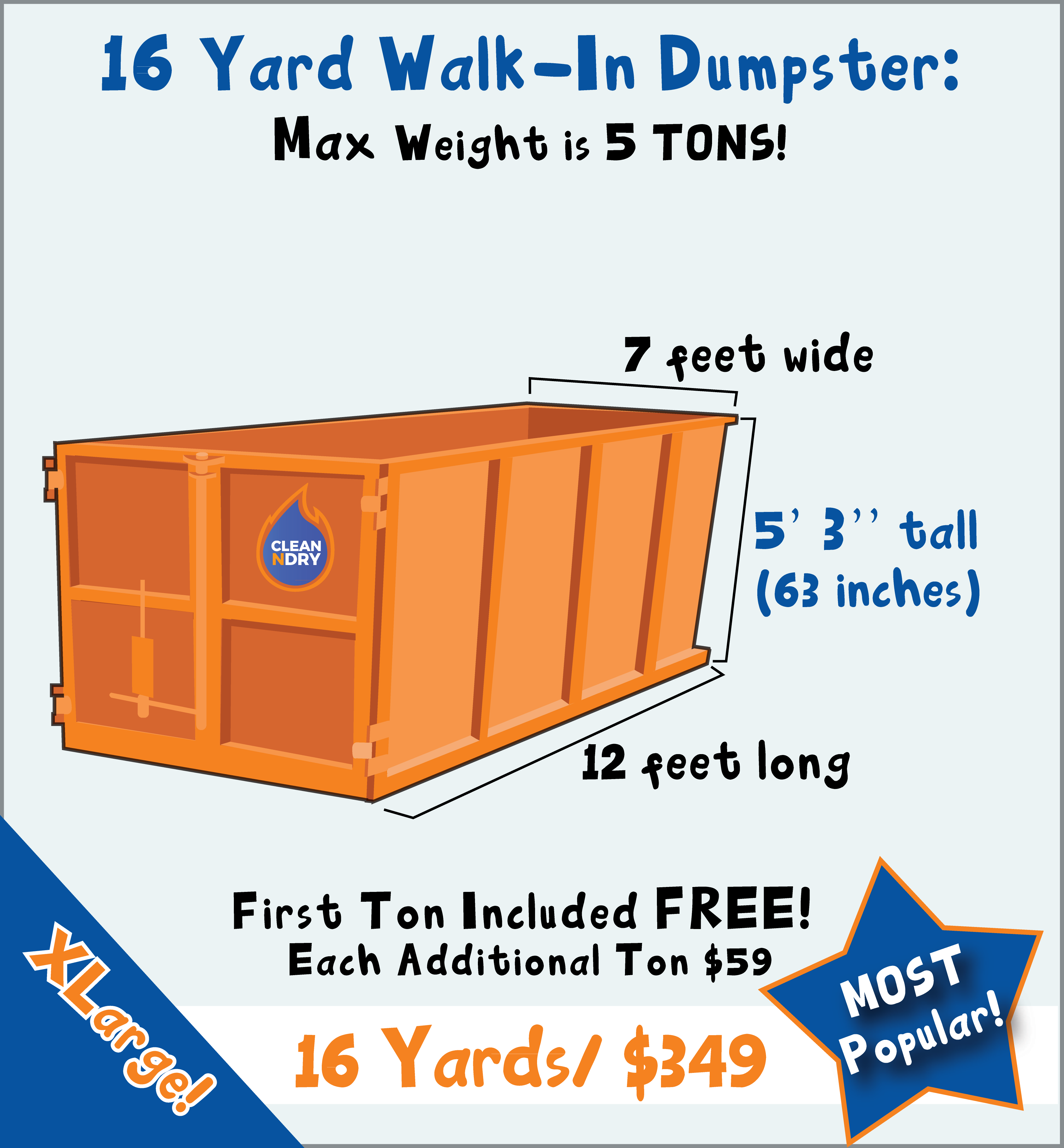 Rent a dumpster delivery orlando trash bin rental walk in dumpster rental orlando 16 yard